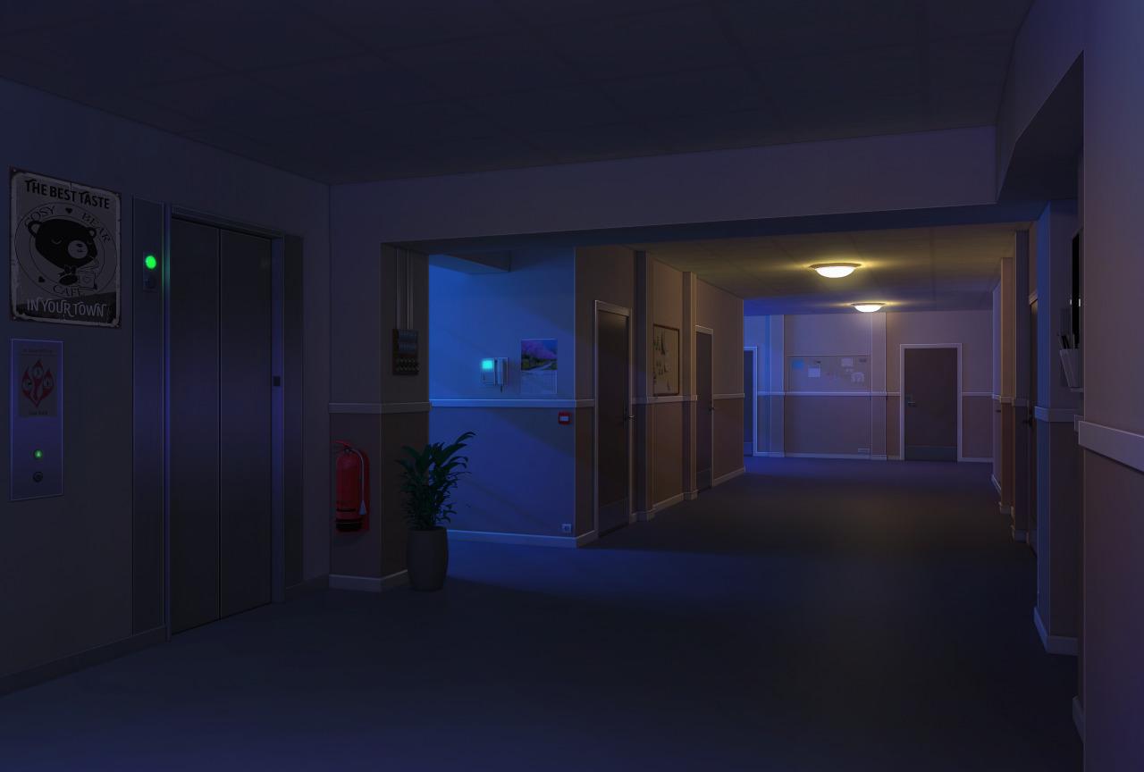 Couloir chambres de nuit